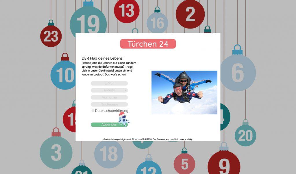 Adventskalender Newsletter Gewinn