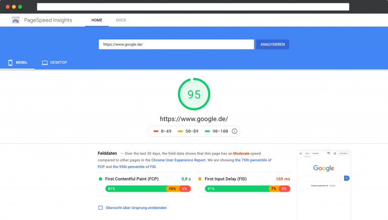 pagespeed insights mailflatrate